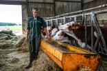 L'hiver les bêtes sont nourries de foin provenant des pâturages de l'exploitation. Les tourteaux de soja et de colza bio viennent compléter leur alimentation.