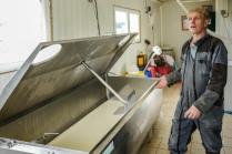 La ferme ne produit que 300 litres de lait par jour.